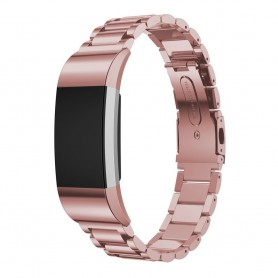 Fitbit Charge 2 Metal Roestvrij Stalen Armband - Rosegold