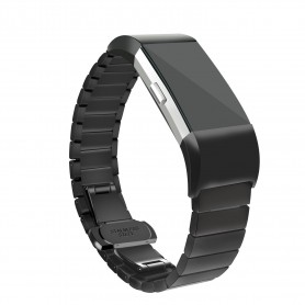 Fitbit Charge 2 Premium Link Armband Roestvrij Staal- Inclusief Adapter - zwart