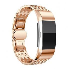 Fitbit Charge 2 gevlochten stalen armband -Inclusief Adapters - rosegold