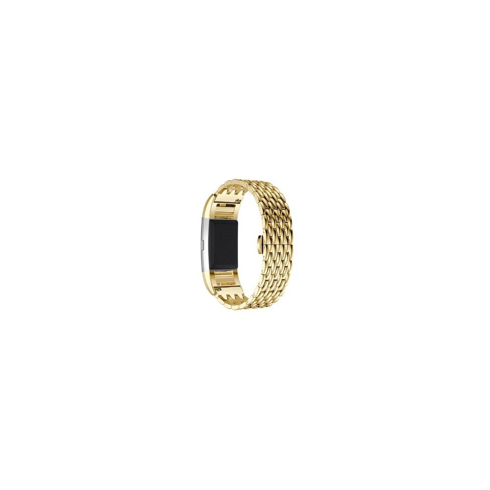 Fitbit Charge 2 Fashion gevlochten Metal Woven Stalen Armband