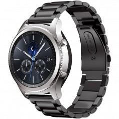 Samsung Gear S3 Metal Roestvrij Stalen Armband - Zwart
