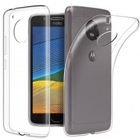 Moto G5 Plus TPU Ultra Dun siliconen Premium Soft-Gel Hoesje - Transparant