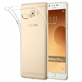 Samsung C9 Pro TPU Ultra Dun siliconen Premium Soft-Gel Hoesje - Transparant