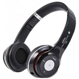 DrPhone Wireless Bluetooth 4.2 Headset / Koptelefoon Met FM radio en Geheugen Poort - Zwart