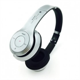 DrPhone Wireless Bluetooth 4.2 Headset / Koptelefoon Met FM radio en Geheugen Poort - Wit