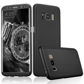 S8 360° case - full body hoesje - voor en achter CNC full coverage  - zwart
