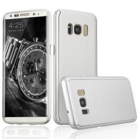 S8 360° case - full body hoesje - voor en achter CNC full coverage  - zilver