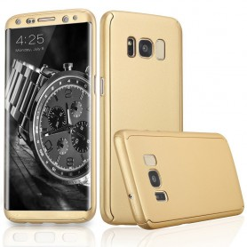 S8+ 360° case - full body hoesje - voor en achter CNC full coverage  - goud