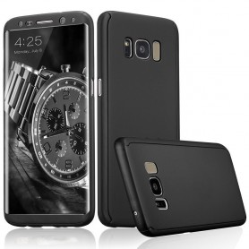 S8 Plus  360° case - full body hoesje - voor en achter CNC full coverage  - zwart