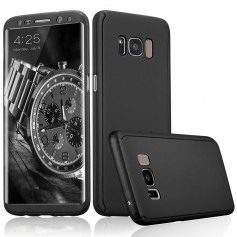S8 Plus 360° case - full body hoesje - voor en achter CNC full coverage - zwart