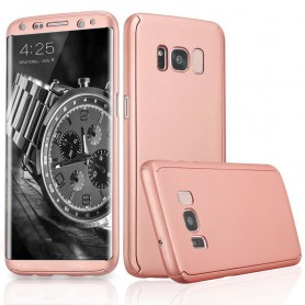 S8 Plus 360° case - full body hoesje - voor en achter CNC full coverage  - rosegold