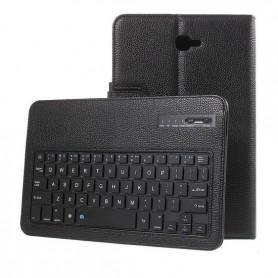 Samsung Galaxy Tab A 2016 T580 Hoesje - Bluetooth Toetsenbord Case - Premium PU lederen keyboard case - Zwart