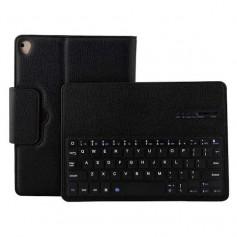 iPad Pro 10.5 Hoesje - Bluetooth Toetsenbord Case - Premium PU lederen keyboard case - Zwart