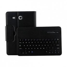 Samsung Galaxy Tab E T560 Hoesje - Bluetooth Toetsenbord Case - Premium PU lederen keyboard case - Zwart