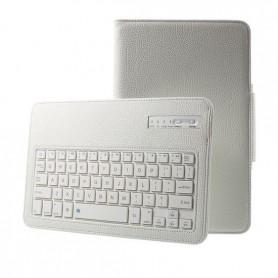 SSamsung Galaxy Tab E 9.6 T560 Hoesje - Bluetooth Toetsenbord Case - Premium PU lederen keyboard case - Wit