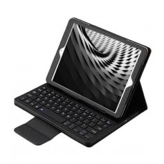 DrPhone - iPad Pro 9.7 Hoesje - Bluetooth Toetsenbord Case - Premium PU lederen keyboard case - Zwart