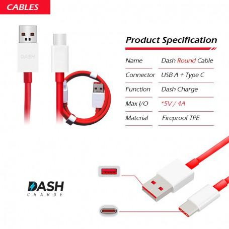 OnePlus Dash USB - C Oplaadkabel Dash Charging Type C Kabel 1 Meter