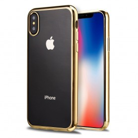 iPhone X Hoesje - TPU Siliconen case - softgel ultradunne cover - Goud