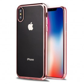 iPhone X Hoesje - TPU Siliconen case - softgel ultradunne cover - Rosegold