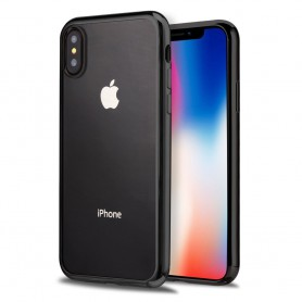 iPhone X Hoesje - TPU Siliconen case - softgel ultradunne cover - Zwart