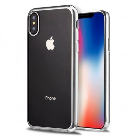 iPhone X Hoesje - TPU Siliconen case - softgel ultradunne cover - Zilver