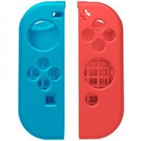 1-Pack Hoogwaardig Siliconen Bescherm Hoes Nintendo Switch Joy Con - Links / Rechts - Blauw/Rood