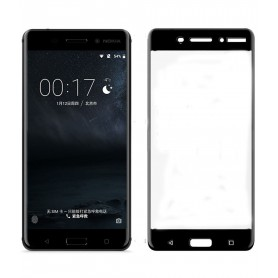 Nokia 6 Tempered Glass 3D Design Full Screen Coverage Zwart ( Volledige Dekking)