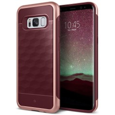 S8+ (Plus) Caseology® Parallax Series Shock Proof TPU Grip Case - Burgundy red