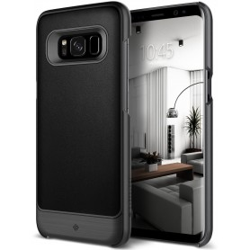 S8+ (Plus) Caseology® Fairmont Series Shock Proof PU lederen TPU Case - Black