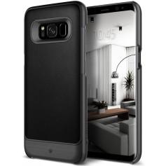 S8+ (Plus) Caseology® Fairmont Series Shock Proof PU lederen TPU Case - Black