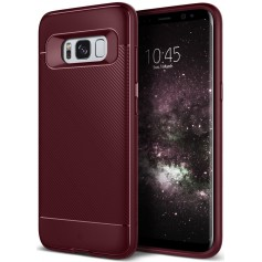 S8+(Plus) Caseology Vault II Series TPU Shock Proof Case - Burgundy Red