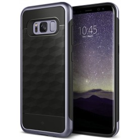 S8 Caseology® Parallax Series Shock Proof TPU Grip Case - Orchid Gray