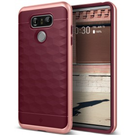 LG G6 Caseology® Parallax Series Shock Proof TPU Grip Case - Burgundy red