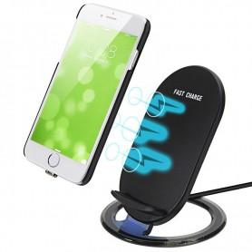 Wireless Fast Charge 5V - 2A - 3 Coils Universeel Oplader Draadloos Laden - Zwart