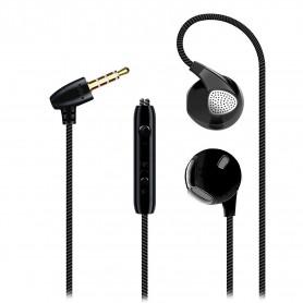 V2 In-Ear Oordopjes - Geluidsisolerende Oortelefoon met BASS - Stereo Koptelefoon met Afstandsbediening & Microfoon - Zwart