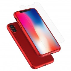 Hard Case 360º Ptotection iPhone X Rood