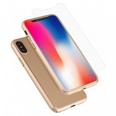 Hard Case 360º Ptotection iPhone X Gold