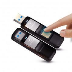 LUXWALLET® Eclipse Vingerafdruk 64GB USB 3.0 Stick Kluis AES256 Encryptie Bitcoin / Cryptocurrency Wallet + GPS Tracker