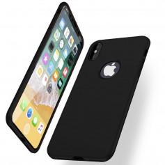 iPhone X Soft Gel Ultradunne schokbestendige Hybrid 360 TPU Case - Zwart