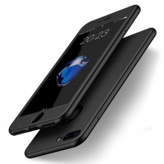 iPhone 8+/7+ Plus Soft Gel Ultradunne schokbestendige Hybrid 360 TPU Case - Zwart