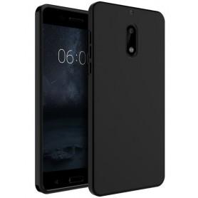 Nokia 6 TPU Ultra Dun siliconen Premium Soft-Gel Hoesje - Zwart