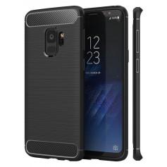 Samsung S9+ Plus Geborsteld Rugged TPU case - Ultimate Drop Proof Siliconen Case - Carbon fiber Look