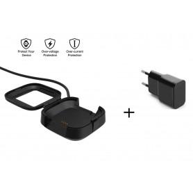 USB Oplaadkabel Dock Adapter Fitbit Versa - Docking Lader + OLESIT Stekker 5V 2A Adapter 10W