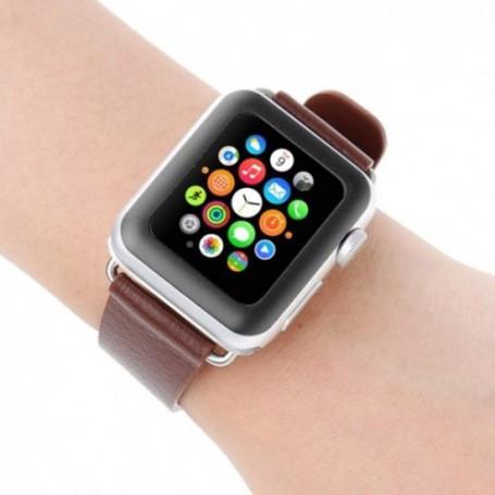 DrPhone 42mm Apple Watch Glas - 0.2mm Glazen screenprotector - 8-9H Full Cover Tempered glass Kleur: Zwart