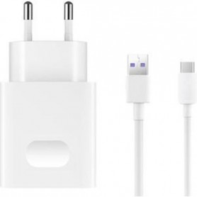 Supercharge Snellader Huawei USB-C (USB Type-C) 4.5 Ampère + Fast Charge HUAWEI Supercharge kabel USB-C