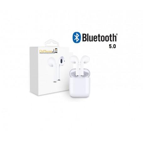 DrPhone Ultima Pro Dual Truewireless Oordoppen Rijke Bastonen Bluetooth 5.0 + Oplaadcase + 1 meter Lightning kabel