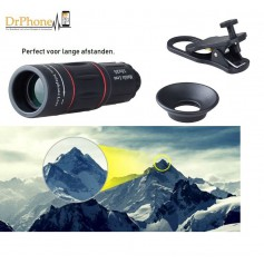 DrPhone APEX Series – Opzetlens Telescoop 18 x Zoom – Monocular – Zoom tot 18 keer in - Universeel