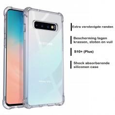 DrPhone Galaxy S10+(Plus) TPU Hoesje - Siliconen Shock Bumper Case -Backcover met Verstevigde randen voor extra