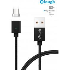 Elough® E04 Magnetische Type C oplaadkabel - Magnetisch oplader 2.4A Fast Charge USB-C Snellader en Datakabel -