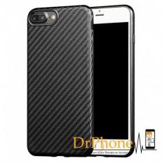 iPhone 7 / iPhone 8 -  X-LEVEL 0.8mm Carbon fiber Textuur TPU Soft Case - Zwart